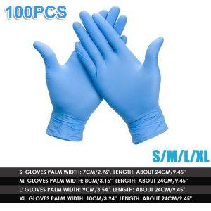 LUVA 100pcs Disposable Gloves NBR Rubber Cleaning Glove Kitchen Alkali Tattoo Nail Art Beauty Salon Industrial Auto Repair Gloves Disposable Nitrile Gloves Size S/M/L/XL Www.DUGEZZU.Com.Br ANTECIPE SUAS COMPRAS DEMORA ALGUNS DIAS PRA VOCE RECEBER FIQUE A VONTADE E BOAS COMPRAS …FRETE GRATIS