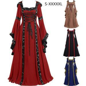 VESTIDO Renascimento medieval Plus Size Gótico Retro As Mulher Www.DUGEZZU.Com.Br ANTECIPE SUAS COMPRAS DEMORA ALGUNS DIAS PRA VOCE RECEBER FIQUE A VONTADE E BOAS COMPRAS …FRETE GRATISes Se Vestem Traje Do Vintage Renascença Clássica Vestidos Com Capuz Cosplay Vestido Hoodies