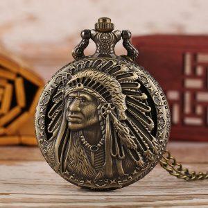 RELOGIO Relógio de bolso tribal vintage Casestars de artesanato à mão Estilo indiano americano Relógio de bolso de quartzo Www.DUGEZZU.Com.Br ANTECIPE SUAS COMPRAS DEMORA ALGUNS DIAS PRA VOCE RECEBER FIQUE A VONTADE E BOAS COMPRAS …FRETE GRATIS