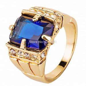 ANEL Fashion Jewelry Men's Gold Filled Sapphire Ring Size 7 8 9 10 11 12 13 14 Www.DUGEZZU.Com.Br ANTECIPE SUAS COMPRAS DEMORA ALGUNS DIAS PRA VOCE RECEBER FIQUE A VONTADE E BOAS COMPRAS …FRETE GRATIS