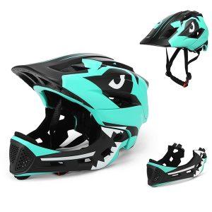 CAPACETE Kids Detachable Full Face Helmet 2 in 1 Children Sports Safety Bike Helmet for Cycling Skateboarding Roller Skating Www.DUGEZZU.Com.Br ANTECIPE SUAS COMPRAS DEMORA ALGUNS DIAS PRA VOCE RECEBER FIQUE A VONTADE E BOAS COMPRAS …FRETE GRATIS