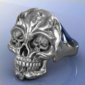 ANEL Punk de aço inoxidável de boa qualidade dos homens gótico crânio olho moda tendência motociclista anel crânio jóias  Www.DUGEZZU.Com.Br ANTECIPE SUAS COMPRAS DEMORA ALGUNS DIAS PRA VOCE RECEBER FIQUE A VONTADE E BOAS COMPRAS …FRETE GRATIS
