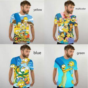 CAMISETA Homens Impressão 3D Simpsons Camiseta Verão Criativo Em Torno Do Pescoço Legal Camisas Curtas Unisex Moda Top Engraçado Camisetas Www.DUGEZZU.Com.Br ANTECIPE SUAS COMPRAS DEMORA ALGUNS DIAS PRA VOCE RECEBER FIQUE A VONTADE E BOAS COMPRAS …FRETE GRATIS