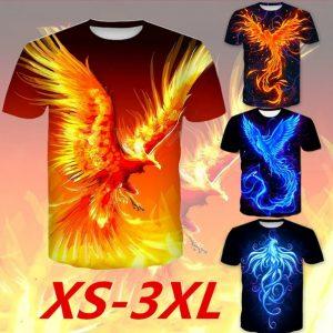 CAMISETA Homens Cool 3D Impresso Fogo Phoenix Camiseta Unisex Manga Curta Tops Camiseta Www.DUGEZZU.Com.Br ANTECIPE SUAS COMPRAS DEMORA ALGUNS DIAS PRA VOCE RECEBER FIQUE A VONTADE E BOAS COMPRAS …FRETE GRATIS