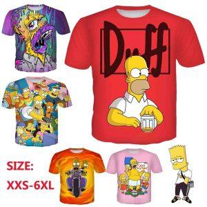 CAMISETA Impressão 3D Nova Moda Dos Desenhos Animados Os Simpsons Homens / mulheres Camiseta de Manga Curta Www.DUGEZZU.Com.Br ANTECIPE SUAS COMPRAS DEMORA ALGUNS DIAS PRA VOCE RECEBER FIQUE A VONTADE E BOAS COMPRAS …FRETE GRATIS