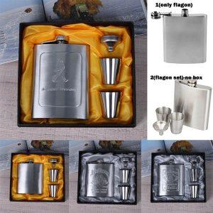 CANTIL 7 oz Caneca de Bebida de Aço Inoxidável Portátil Balão Flagon Funnel Cup Set Whisky Bottle Presente dos homens Www.DUGEZZU.Com.Br ANTECIPE SUAS COMPRAS DEMORA ALGUNS DIAS PRA VOCE RECEBER FIQUE A VONTADE E BOAS COMPRAS …FRETE GRATIS