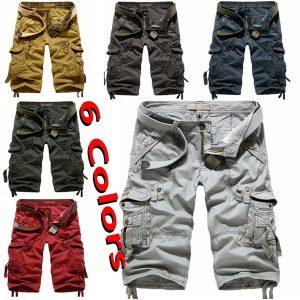 BERMUDA Men's Summer Overalls Street Casual Shorts Cargo Shorts Men's Drawstring Shorts Tactical Shorts ( 6 Colors) Www.DUGEZZU.Com.Br ANTECIPE SUAS COMPRAS DEMORA ALGUNS DIAS PRA VOCE RECEBER FIQUE A VONTADE E BOAS COMPRAS …FRETE GRATIS