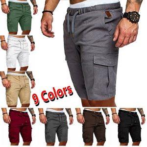 BERMUDA  Men's Summer Workwear Street Casual Shorts Overalls Shorts Men's Drawstring Shorts (9 Colors) Www.DUGEZZU.Com.Br ANTECIPE SUAS COMPRAS DEMORA ALGUNS DIAS PRA VOCE RECEBER FIQUE A VONTADE E BOAS COMPRAS …FRETE GRATIS