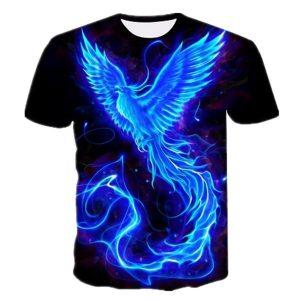CAMISETA 3D Azul Phoenix Impresso Camisetas Homens Mulheres Moda Legal Camiseta Tops Www.DUGEZZU.Com.Br ANTECIPE SUAS COMPRAS DEMORA ALGUNS DIAS PRA VOCE RECEBER FIQUE A VONTADE E BOAS COMPRAS …FRETE GRATIS