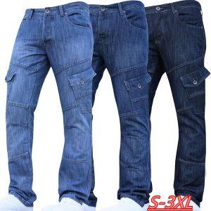CALÇA Novos homens da moda multi bolsos jeans slim fit clássico denim calças jeans perna reta azul Www.DUGEZZU.Com.Br ANTECIPE SUAS COMPRAS DEMORA ALGUNS DIAS PRA VOCE RECEBER FIQUE A VONTADE E BOAS COMPRAS …FRETE GRATIS