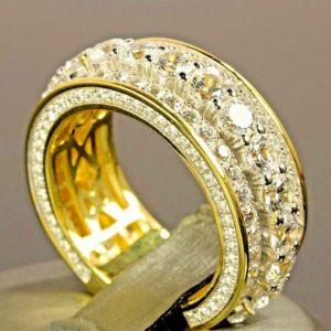 ALIANÇA 14 K Ouro Amarelo 2.0 CT Rodada Corte Anel de Diamante Presente de Aniversário de Noivado Anéis de Casamento Jóias Para Homens E Mulheres Tamanho 5-11 Www.DUGEZZU.Com.Br ANTECIPE SUAS COMPRAS DEMORA ALGUNS DIAS PRA VOCE RECEBER FIQUE A VONTADE E BOAS COMPRAS …FRETE GRATIS                      EMPRESA facebook.com/dugezzurockshop/ QUER VER TODOS OS PRODUTOS ANTES DE COMPRAR www.facebook.com/dugezzu/photos_all………. FRETE GRATIS   Comprar em www.DUGEZZU.com.br ou no seu CELULAR ou AQUI na LOJA