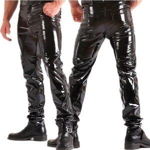 CALÇA Estilo de calça jeans apertada para homem em PVC preto clássico Fly Front Www.DUGEZZU.Com.Br ANTECIPE SUAS COMPRAS DEMORA ALGUNS DIAS PRA VOCE RECEBER FIQUE A VONTADE E BOAS COMPRAS …FRETE GRATIS EMPRESA Facebook.Com/Dugezzurockshop/ QUER VER TODOS OS PRODUTOS ANTES DE COMPRAR Www.Facebook.Com/Dugezzu/Photos_all………. FRETE GRATIS