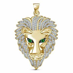 COLAR Moda masculina 14K ouro Inlay Gemstone pingente de diamante Emerald Lion cabeça pingente de colar  Www.DUGEZZU.Com.Br ANTECIPE SUAS COMPRAS DEMORA ALGUNS DIAS PRA VOCE RECEBER FIQUE A VONTADE E BOAS COMPRAS …FRETE GRATIS                      EMPRESA facebook.com/dugezzurockshop/ QUER VER TODOS OS PRODUTOS ANTES DE COMPRAR www.facebook.com/dugezzu/photos_all………. FRETE GRATIS   Comprar em www.DUGEZZU.com.br ou no seu CELULAR ou AQUI na LOJA
