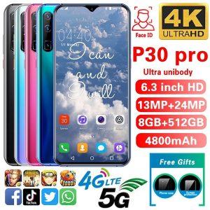 CELULAR P30pro Smartphone 8 + 512 GB Smartphones desbloqueados ultrafinos Face / Bloqueio de impressão digital Suporte para celular Cartões duplos SIM Telefones celulares Www.DUGEZZU.Com.Br ANTECIPE SUAS COMPRAS DEMORA ALGUNS DIAS PRA VOCE RECEBER FIQUE A VONTADE E BOAS COMPRAS …FRETE GRATIS                      EMPRESA facebook.com/dugezzurockshop/ QUER VER TODOS OS PRODUTOS ANTES DE COMPRAR www.facebook.com/dugezzu/photos_all………. FRETE GRATIS   Comprar em www.DUGEZZU.com.br ou no seu CELULAR ou AQUI na LOJA
