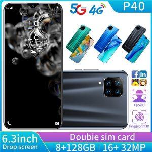 CELULAR P40 Pro Smartphone com 8 + 128 GB de memória grande 6.3 polegada Suporte de tela Face / impressão digital Desbloquear telefones celulares Dual SIM Www.DUGEZZU.Com.Br ANTECIPE SUAS COMPRAS DEMORA ALGUNS DIAS PRA VOCE RECEBER FIQUE A VONTADE E BOAS COMPRAS …FRETE GRATIS                      EMPRESA facebook.com/dugezzurockshop/ QUER VER TODOS OS PRODUTOS ANTES DE COMPRAR www.facebook.com/dugezzu/photos_all………. FRETE GRATIS   Comprar em www.DUGEZZU.com.br ou no seu CELULAR ou AQUI na LOJA