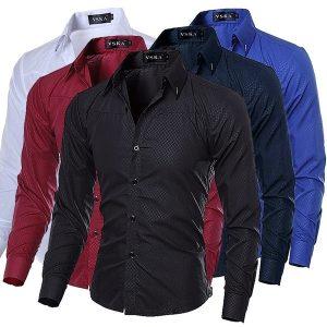 CAMISA Moda Mens Business Shirt manga comprida formal cor sólida camisas camisas masculinas Www.DUGEZZU.Com.Br ANTECIPE SUAS COMPRAS DEMORA ALGUNS DIAS PRA VOCE RECEBER FIQUE A VONTADE E BOAS COMPRAS …FRETE GRATIS EMPRESA Facebook.Com/Dugezzurockshop/ QUER VER TODOS OS PRODUTOS ANTES DE COMPRAR Www.Facebook.Com/Dugezzu/Photos_all………. FRETE GRATIS