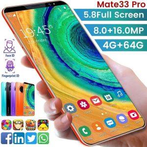 CELULAR Mate33 Pro Smartphone com 4 + 64 GB de memória grande Suporte de tela de 5,8 polegadas Rosto / impressão digital Desbloquear telefones celulares Dual SIM Www.DUGEZZU.Com.Br ANTECIPE SUAS COMPRAS DEMORA ALGUNS DIAS PRA VOCE RECEBER FIQUE A VONTADE E BOAS COMPRAS …FRETE GRATIS                      EMPRESA facebook.com/dugezzurockshop/ QUER VER TODOS OS PRODUTOS ANTES DE COMPRAR www.facebook.com/dugezzu/photos_all………. FRETE GRATIS   Comprar em www.DUGEZZU.com.br ou no seu CELULAR ou AQUI na LOJA