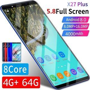 CELULAR Venda quente X27 Plus Android 8.0 Smartphone 5.8 Polegadas de Memória Grande 4 GB + 64 GB Ultra-fino Rosto / impressão digital Desbloquear Dual Card Phone Suporta T-card Smartphone Www.DUGEZZU.Com.Br ANTECIPE SUAS COMPRAS DEMORA ALGUNS DIAS PRA VOCE RECEBER FIQUE A VONTADE E BOAS COMPRAS …FRETE GRATIS                      EMPRESA facebook.com/dugezzurockshop/ QUER VER TODOS OS PRODUTOS ANTES DE COMPRAR www.facebook.com/dugezzu/photos_all………. FRETE GRATIS   Comprar em www.DUGEZZU.com.br ou no seu CELULAR ou AQUI na LOJA