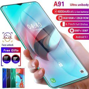 CELULAR NOVO A91 Sistema Android OS 9.1 de alta qualidade 8G + 128G 6,7 polegadas Gota de água grande Tela cheia Ultra-fino inteligente 4G 8MP + 18MP Telefone Smartphone Face / impressão digital Câmera HD Telefones de navegação Bluetooth Www.DUGEZZU.Com.Br ANTECIPE SUAS COMPRAS DEMORA ALGUNS DIAS PRA VOCE RECEBER FIQUE A VONTADE E BOAS COMPRAS …FRETE GRATIS                      EMPRESA DUGEZZU.com.br QUER VER TODOS OS PRODUTOS ANTES DE COMPRAR www.facebook.com/dugezzu/photos_all………. FRETE GRATIS   Comprar em www.DUGEZZU.com.br ou no seu CELULAR ou AQUI na LOJA
