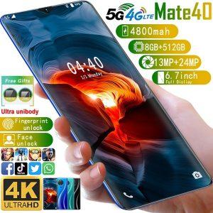CELULAR NOVO MATE40 Sistema Android OS 10.0 de alta qualidade 4800mAh 8G + 512G 6,7 polegadas 1440 * 3040 Grande gota de água Tela cheia Ultra-fino inteligente 4G Rede 5G Rede 13MP + 24MP Telefone Smartphone Face / impressão digital Câmera HD Telefones de navegação Bluetooth Www.DUGEZZU.Com.Br ANTECIPE SUAS COMPRAS DEMORA ALGUNS DIAS PRA VOCE RECEBER FIQUE A VONTADE E BOAS COMPRAS …FRETE GRATIS                      EMPRESA facebook.com/dugezzurockshop/ QUER VER TODOS OS PRODUTOS ANTES DE COMPRAR www.facebook.com/dugezzu/photos_all………. FRETE GRATIS   Comprar em www.DUGEZZU.com.br ou no seu CELULAR ou AQUI na LOJA