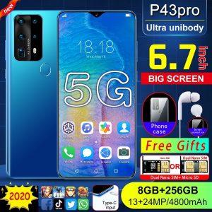 CELULAR Chegada nova P43 Pro Mobilephone 6.7 polegada Tela de Gota de Água Impressão Digital Reconhecimento Facial 8G + 256G smartphone  Www.DUGEZZU.Com.Br ANTECIPE SUAS COMPRAS DEMORA ALGUNS DIAS PRA VOCE RECEBER FIQUE A VONTADE E BOAS COMPRAS …FRETE GRATIS                      EMPRESA facebook.com/dugezzurockshop/ QUER VER TODOS OS PRODUTOS ANTES DE COMPRAR www.facebook.com/dugezzu/photos_all………. FRETE GRATIS   Comprar em www.DUGEZZU.com.br ou no seu CELULAR ou AQUI na LOJA