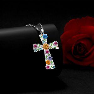 """CRUZ IV 4 Colors """"God We Trust"""" Silver Cross Pendant Necklace Jewelry Gift for Women with Stainless Steel Chain 18″ with 2″ Extension( Color: Blue / Purple / White / Multi )    Www.DUGEZZU.Com.Br  A SUA LOJA VIRTUAL ALTERNATIVA NA INTERNET ACESSE E BOAS COMPRAS, AGORA COM PAGSEGURO ANTECIPE SUAS COMPRAS DEMORA ALGUNS DIAS PRA VOCE RECEBER FIQUE A VONTADE E BOAS COMPRAS …FRETE GRATIS EMPRESA – FONE/ZAP 67 9999-9-5555 Facebook.Com/Dugezzurockshop/ QUER VER TODOS OS PRODUTOS ANTES DE COMPRAR www.facebook.com/dugezzu/photos_all ………. FRETE GRATIS FAÇA SUA COMPRA AGORA Ou No Seu CELULAR Ou AQUI Na LOJA https://pagseguro.uol.com.br/oper…/charging.jhtml…….."""