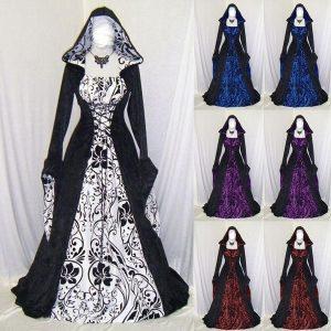 VESTIDO UDM Novo estilo vintage plus size vestido gótico manga longa até o chão feminino vestido medieval com capuz maxi vestido de cosplay de halloween vestidos longos retrô  Www.DUGEZZU.Com.Br boas compra………. FRETE GRATIS instagram.com/dugezzu A SUA LOJA VIRTUAL ALTERNATIVA NA INTERNET ACESSE E BOAS COMPRAS, AGORA COM PAGSEGURO ANTECIPE SUAS COMPRAS…FRETE GRATIS Comprar em www.DUGEZZU.com.br ou no seu CELULAR  zap 67 9999-9-5555 ou AQUI na LOJA Facebook.Com/Dugezzurockshop/ QUER VER TODOS OS PRODUTOS ANTES DE COMPRAR                                                                                                www.facebook.com/dugezzu/photos_all ………. FRETE GRATIS